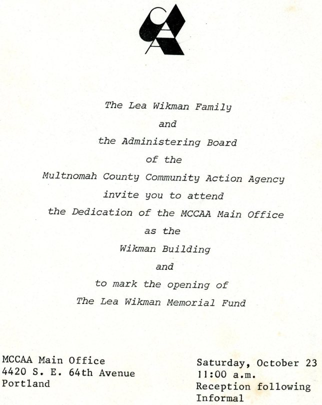 Wikman Building OPEN for Viewing