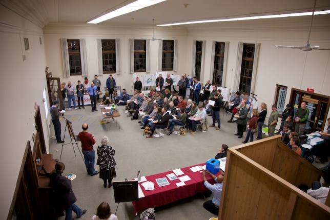 Wikman Building Hosts Standroom Only Crowd